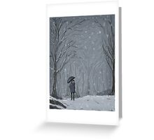 Snowy Walk Greeting Card