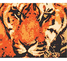 Stylized Tiger Close up Photographic Print