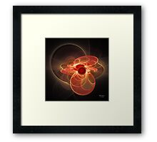 'Light Flame Abstract 164' Framed Print