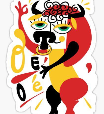 Toro loco - Crazy bull spanish ole ole Sticker