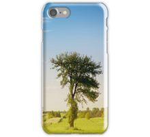 Rural grassland trees view iPhone Case/Skin