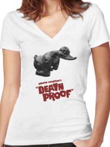 Death Proof - Duck Women's Fitted V-Neck T-Shirt