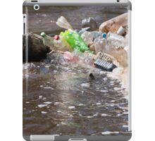 plastic bottles garbage damage river  iPad Case/Skin
