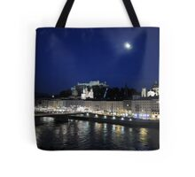 Salzburg Nightscape Tote Bag