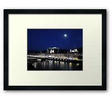 Salzburg Nightscape Framed Print