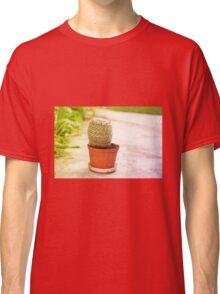 Cactus flowering pink blossoms Classic T-Shirt