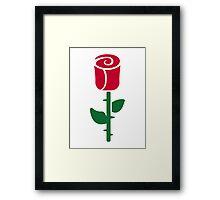 Red rose flower Framed Print