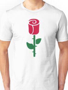 Red rose flower Unisex T-Shirt