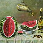 Still Life with Watermelon by keci