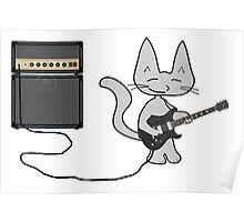 "Rock ""n"" Roll Kitty  Poster"