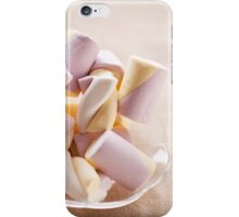 Puffy marshmallows twists on plate iPhone Case/Skin