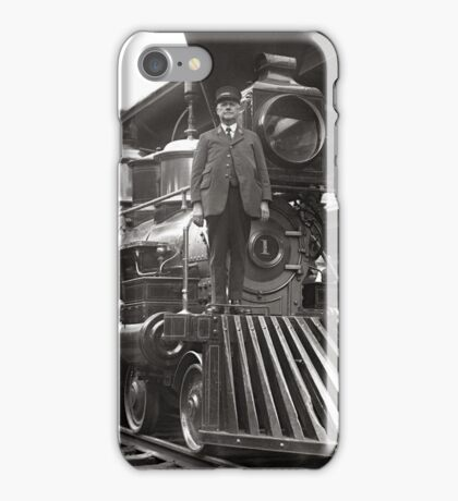 Steam Train at Station, 1923 iPhone Case/Skin
