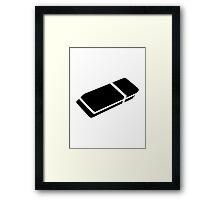 Black eraser Framed Print