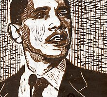 Barack Obama by Hans Poppe