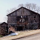 Old barn on a hill by vigor