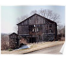 Old barn on a hill Poster