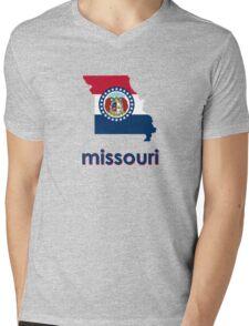 missouri state flag Mens V-Neck T-Shirt