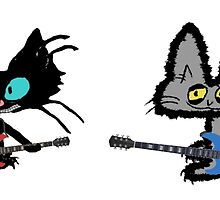 Rock And Roll Cats by JohnsCatzz