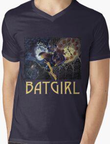 Gothic Batgirl Mens V-Neck T-Shirt