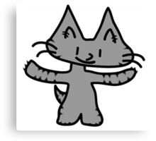 Big Hug Kitten Canvas Print
