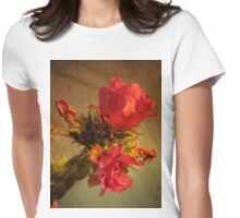Cholla Cactus Flower Womens Fitted T-Shirt
