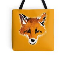 Fox on Orange Tote Bag
