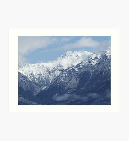 High in the Mountain Tops Art Print