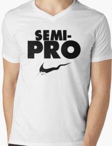 Semi-Pro - Nike Parody (Black) Mens V-Neck T-Shirt