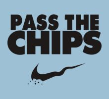 Pass the Chips - Nike Parody (Black) One Piece - Short Sleeve