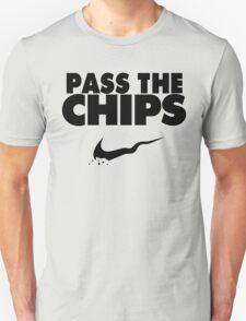 Pass the Chips - Nike Parody (Black) T-Shirt
