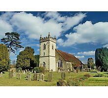 Headley  church, Hampshire uk Photographic Print
