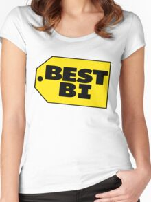 Best Bi - Parody Women's Fitted Scoop T-Shirt