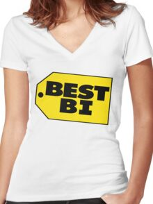 Best Bi - Parody Women's Fitted V-Neck T-Shirt