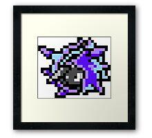 Pokemon 8-Bit Pixel Cloyster 091 Framed Print