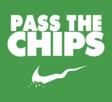 Pass the Chips - Nike Parody (White) Baby Tee