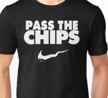 Pass the Chips - Nike Parody (White) Unisex T-Shirt