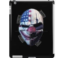 payday masks iPad Case/Skin