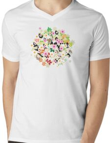 Floral tree Mens V-Neck T-Shirt