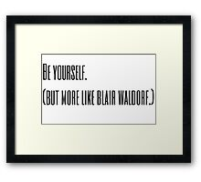 Blair Waldorf Framed Print