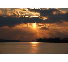 Ohio River Sunset Photographic Print