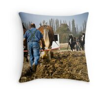 Champions at work Throw Pillow
