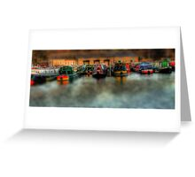 Backend Barges Greeting Card