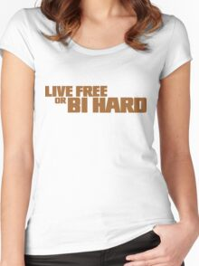 Live Free or Bi Hard - Parody Women's Fitted Scoop T-Shirt
