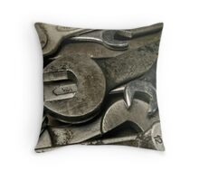 old wrenches Throw Pillow