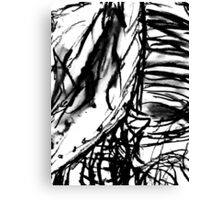 Abstract from Charcoal Drawing Canvas Print