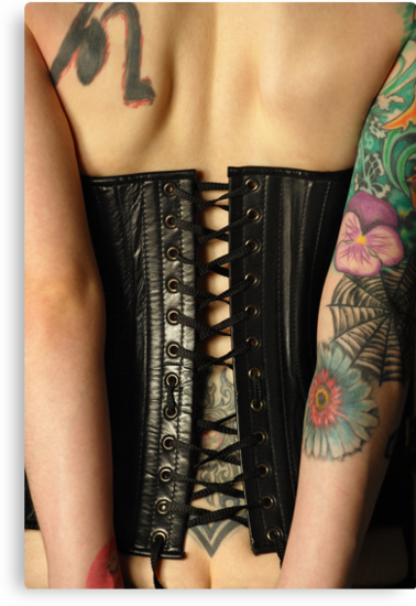 leather corset by sumners