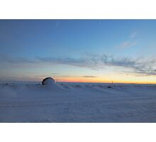 Frosted Wheat Sunset Photographic Print