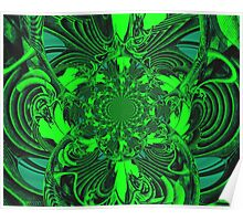 Psychedelic Green Gateway Poster