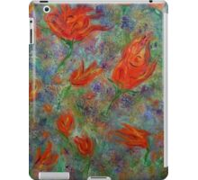 Abstract flower garden, spring tulips, abstract art, original painting iPad Case/Skin