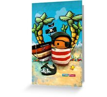 CHUNKIE Pirate Greeting Card